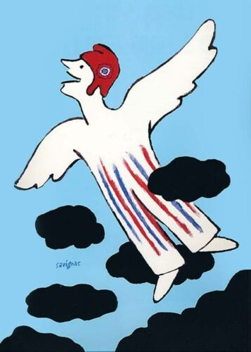 SAVIGNAC Affiche originale-Bicentenaire de la Révolution Française 1989