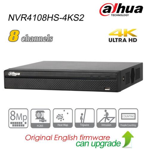 Dahua 8CH 4K UHD Security NVR H.265 P2P SATA HDMI Network NVR4108HS-4KS2 for IPC