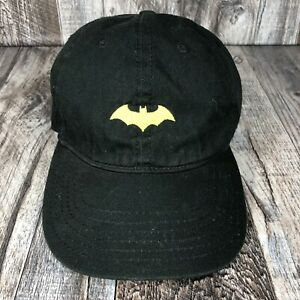 Batman Retro Logo Kids Adjustable Black Yellow Hat Cap One Size Fits Most OSFM
