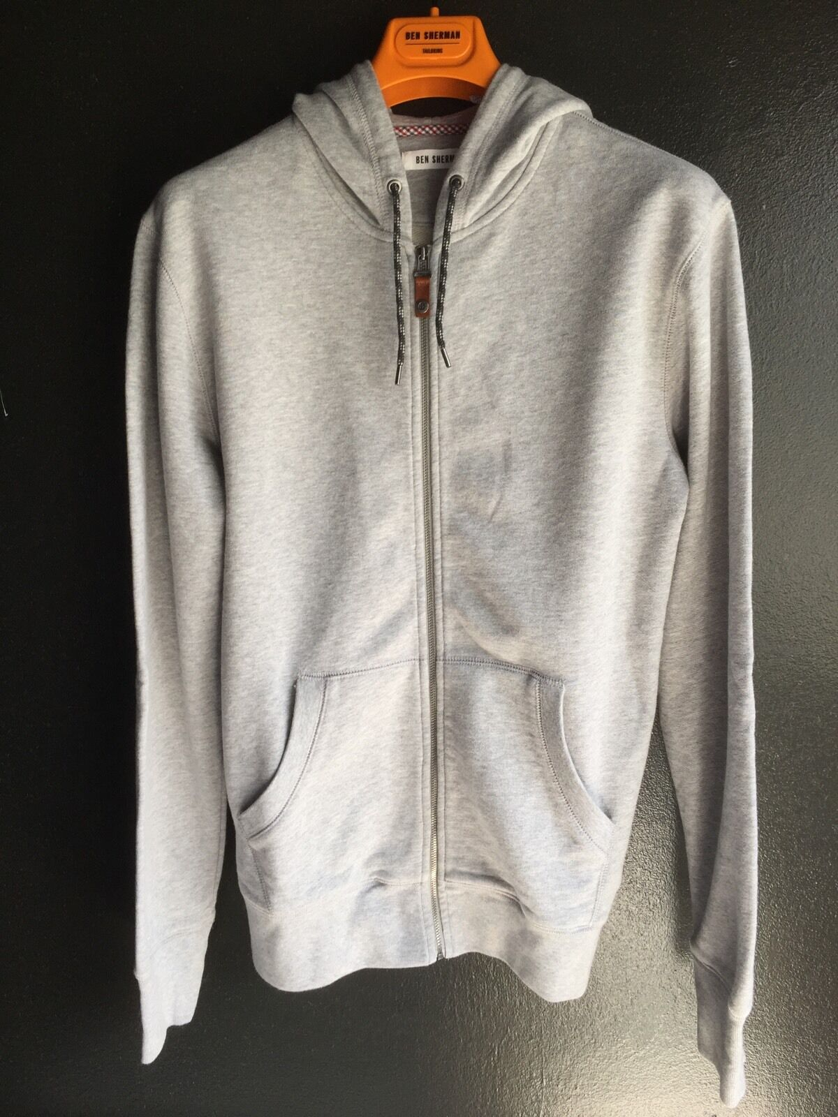 Ben Sherman Cotton Hoodies, Heather Grey, S