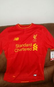 new-balance-Liverpool-Fc-premier-league-soccer-jersey-NWT-size-XL-youth