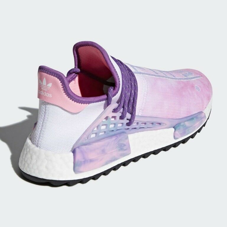 Adidas Pharrell Williams HU NMD Holi Powder Dye rosa Glow Glow Glow Dimensione 13 AC7362 nero 11550b