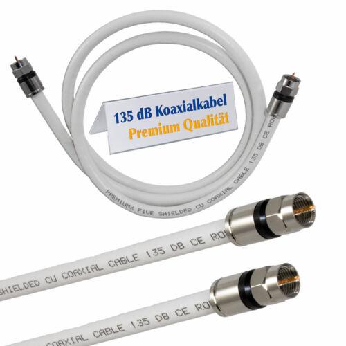 135dB Sat-Kabel Antennenkabel F-Kompressionsstecker Full HD TV F-Stecker 4K UHD