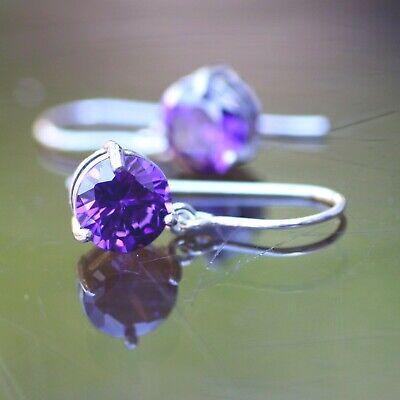 febuary birthstone Amethyst pendant sterling silver chain option handmade purple set in 92.5 sterling silver