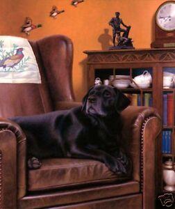 Nigel Hemming PAST TIMES Older Black Labrador Labs Gun Dogs Art Country Home Pet