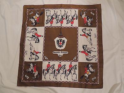 """Vintage Spanische Reitschule Wien Scarf - Vienna - Horses Equestrian-  26"""" sq."""