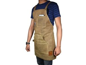 Bib-Apron-Kitchen-Cooking-Women-Restaurant-Chef-Pocket-Men-Aprons-Bbq-Waterproof