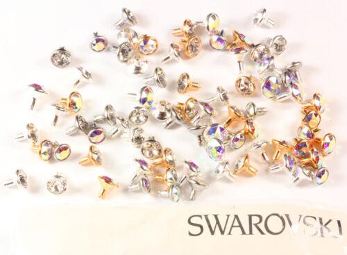 Original SWAROVSKI Rivets mit 1088 Chaton Kristalle verschieden Gehäusefarben