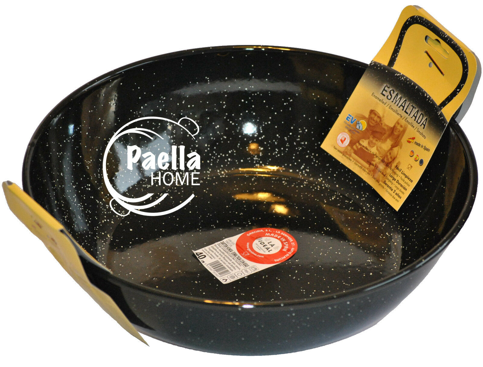 50cm - 55cm Deep Induction Two Handles Pan , Wok , Karahi , Deep Paella Pan