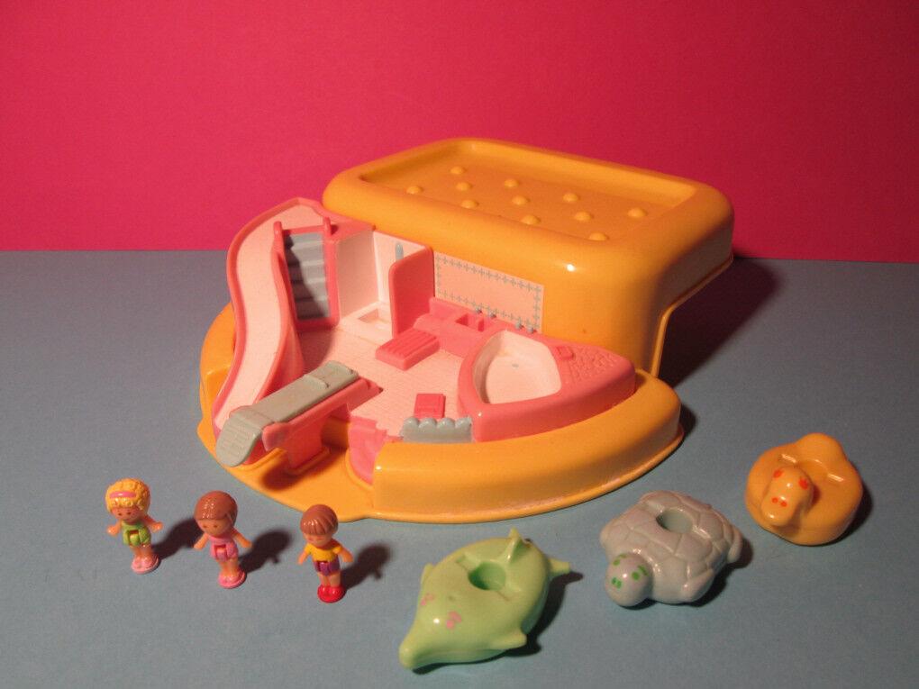 Polly Pocket Mini ♥ Bathtime SOAP Dish Play Set ♥ 100% complete ♥ 1990 ♥ amarillo ♥