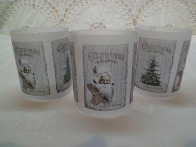 Transparentpapier Windlicht Banderole Teelicht 70007 Weihnachten