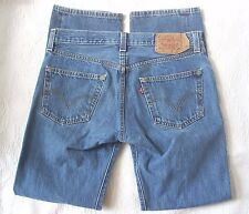 LEVIS Blue Denim Jeans Mens 501 Button Fly Straight Fit Tagged 31x32 (31x30)