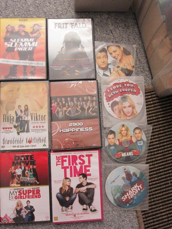 13 dvd film mest danske, samlet 200kr, DVD