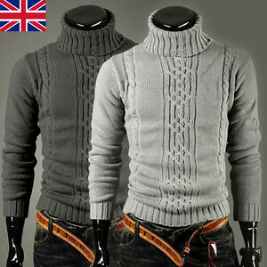 Hiver-Hommes-Tricot-Chaud-Pull-Tricot-Pulls-Cardigans-Epais-Pull-Over-Haut
