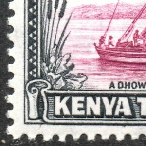 1950-KUT-Sg-144ea-50c-purple-and-black-039-Dot-Removed-039-Flaw-Mounted-Mint