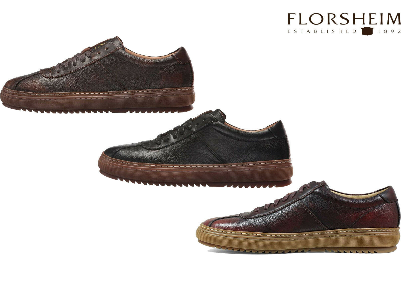 Florsheim Crew Low Lace Up Casual Sneakers Mens Oxford shoes Florsheim 15142 NEW