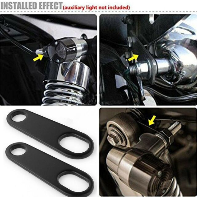 A Pair Motorcycle Turn Signal Indicator Light Mounting Brackets For Harley