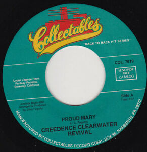 """CREEDENCE CLEARWATER REVIVAL - Proud Mary 7"""" 45"""