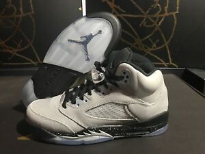 Nike Air Jordan V 5 Retro GG Wolf Grey//Black-Black 440892-008 Grade-School SZ 7Y