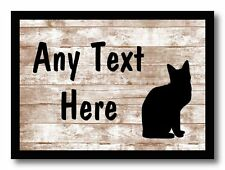 Cat Shabby Personalised Dinner Table Placemat