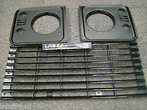 LAND-Rover-Defender-Griglia-Frontale-standard-e-kit-luce-circonda