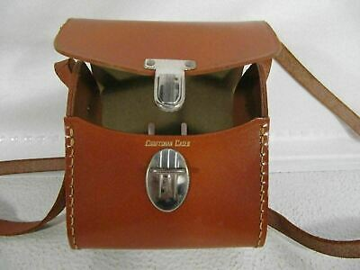 Craftsman Cases Stitched Leather Vintage Tuck Tite Carry Case W Strap Belt Slot Binoculars & Telescopes Cameras & Photo