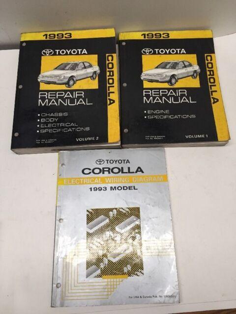 1993 Toyota Corolla Oem Repair Manuals And Electrical
