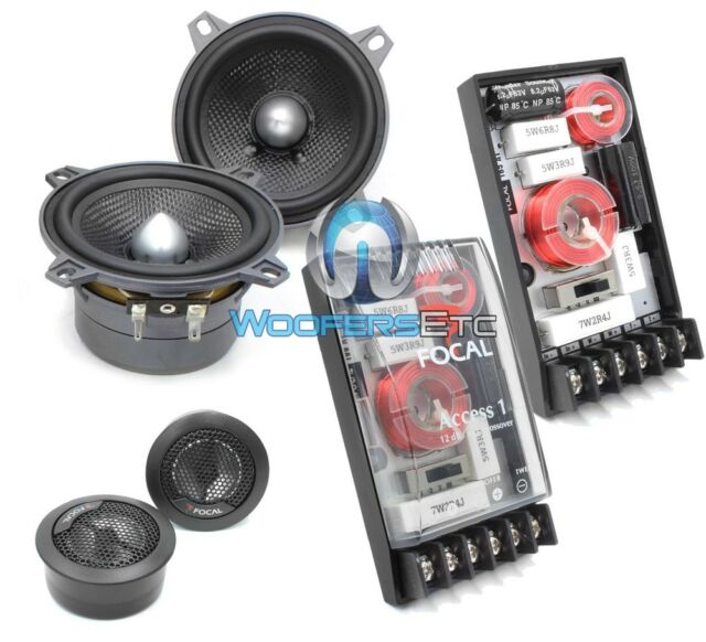 """FOCAL 100A1 SG 4"""" 2-WAY COMPONENT SPEAKERS CROSSOVERS TWEETERS NO GRILLS NEW"""
