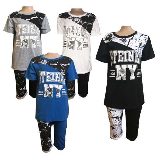 Boys New LOVELY T-shirt//Top //Shirt/& Shorts//Pants 2 Pieces Summer Set 3-12ys #167