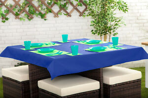 Image Is Loading Blue 52 X 70 034 Rectangular Tablecloth Outdoor