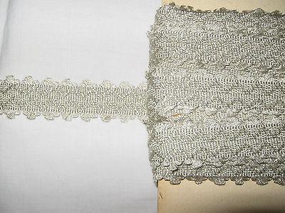 N°17A14 11,50 METRES DE GALON GISELLE ANCIEN PASSEMENTERIE DE LYON