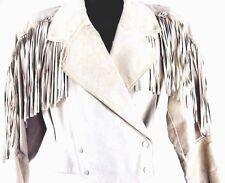 Vintage Leather Fringe Jacket Concho Southwestern Boho Rocker Easy Rider  90s S