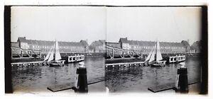 Ayuntamiento-A-Identificar-Foto-Estereo-Placa-De-Cristal-Th4L6n4-Vintage