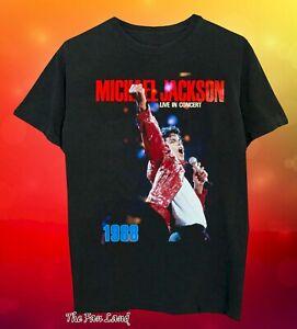 New-Michael-Jackson-Live-In-Concert-1988-Vintage-Mens-T-Shirt
