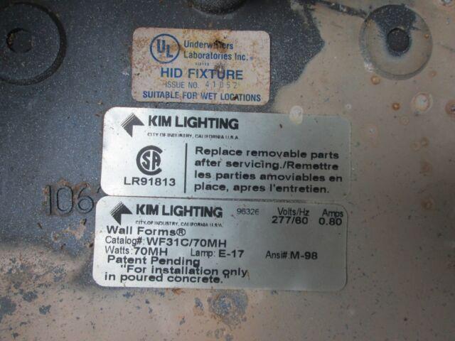 Kim Lighting New Inverted Hid Fixture Housing Lr91813 Catalog Wf31c 70mh Cs