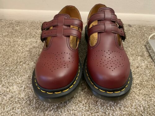 Dr Martens double strap mary jane 8 Cherry Red