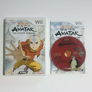 Nintendo-WII-Pal-Game-AVATAR-THE-LEGEND-OF-AANG-with-Box-Manual