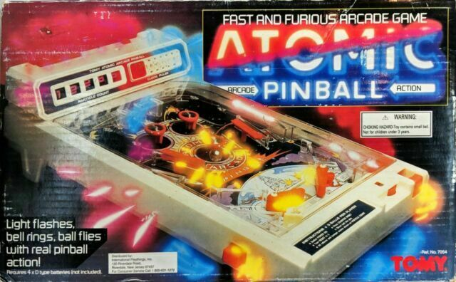 Vintage 1979 Tomy Atomic Arcade Pinball Tabletop Game For Sale Online Ebay