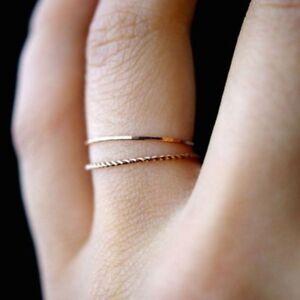 2Pcs-Elegant-Women-Simple-Korean-Style-Thin-Joint-Ring-Size6-10-Set-Jewelry-Gift