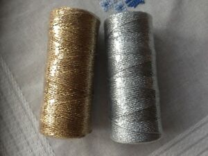 BAKERS-TWINE-2mm-2-PLY-Solid-Gold-Silver-Black-Red-Green-Metallic-String-90-m