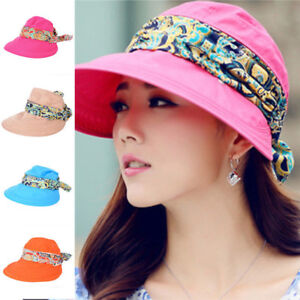 Women Casual Folding Wide Brim Summer Beach UV Travel Sun Ladies ... ef7f72bf154