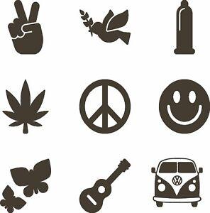Love Peace Music Liebe Frieden Aufkleber Vw Bulli Bus T1 T2
