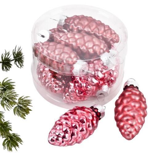 Boule de Noël Cônes Premium 8er Set Verre 5x2x2cm Pink ELNO à tous Décorations