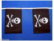 Jolly Roger Bunting 9metres 30ft Long with 30 Cloth fabric Flags