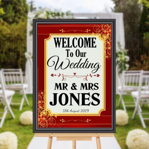 Print Only Personalised Welcome to our Wedding Sign Banner Poster Print N172