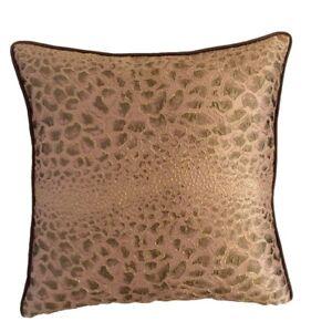 Satin Crocodile Pattern 18 X18 Peach Decorative Throw Pillow Case