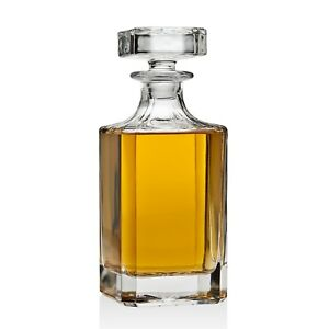 Whiskey-Carafe-Lead-Free-Decanter-Crystal-Liquor-Scotch-Wine-Bottle-Vintage-Gift