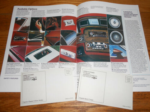 CATALOG 1979 CHEVROLET CAPRICE /& IMPALA 16 p Foldout BROCHURE /& 79 POSTCARDS