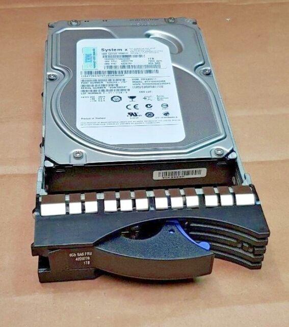 "IBM System x 1 TB 7.2K 6GBP 3.5"" disco duro SAS 42D0781 42D0778 en Caddy 42R4131"