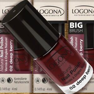 Logona Natural Nail Polish 02 Deep Berry Nagellack 4ml Zertif Naturkosmetik Bio Ebay